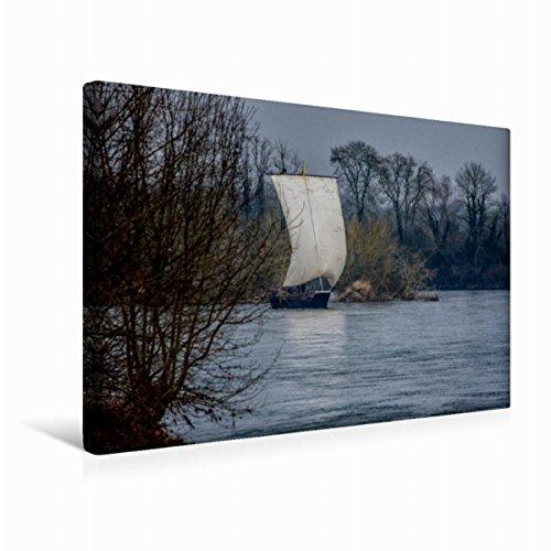 Calvendo Premium Textil-Leinwand 45 cm x 30 cm Quer Gabare auf Dem Allier   Wandbild, Bild auf...