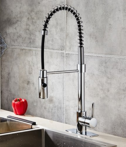 Sccot Modern Commercial Kitchen Sink Faucet 360 Degree Swivel High Arc Kitchen Faucet Spring Single Handle With Pull Down Sprayer Chrome Buy Online In Dominica At Dominica Desertcart Com Productid 64480267