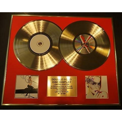 KYLIE MINOGUE/double CD Disco de Oro & Foto Display/Edicion LTD/Certificato di autenticità/BODY LANGUAGE & X