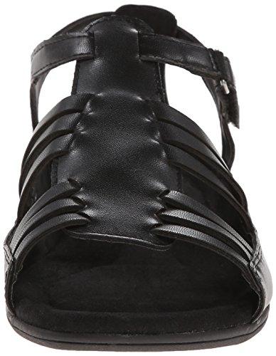 Doux Style Par Hush Puppies Eaby Robe Sandal Black Kid Fusion Leather