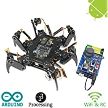 Freenove Hexapod Robot Kit with Remote Control | Arduino Based Project | Raspberry Pi | Spider