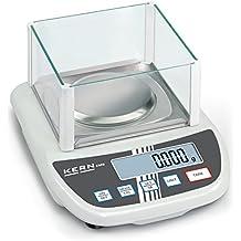 Balanza de laboratorio para principiantes con un gran plato de pesaje y parabrisas [Kern EMS