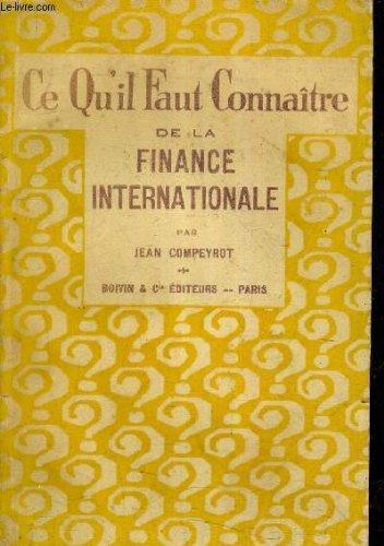 ce qu il faut connaitre de la finance internationale