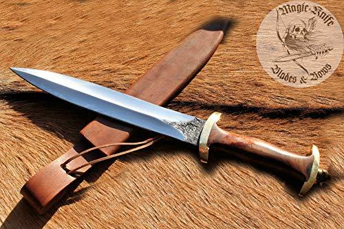 Geschmiedet Schweizer Dolch Messer Sax Mittelalter geschmiedet Handarbeit