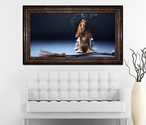 exe Hut Hexenbesen Halloween selbstklebend Wandbild Tattoo Wohnzimmer Wand Aufkleber 11L522, Wandbild Größe F:ca. 162cmx97cm ()