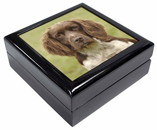 Leber Bild Springer Spaniel Hund, Schmuck Box Weihnachten Geschenk (Bild Springer Spaniel)