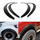 Uniqus 4 Pieces Universal Flexible Car Fender Flares Extra Wide Body Wheel Arches