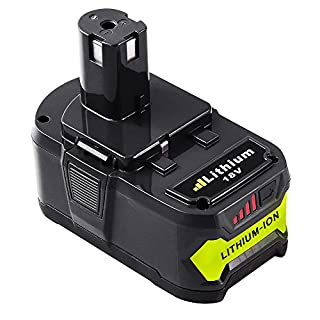 Dosctt for Ryobi RB18L40 ONE+ 18V 4.0Ah Lithium-Ion Replacement Battery RB18L50 RB18L25 RB18L15 RB18L13 P108 P107 P122 P104 P105 P102 P103 with LED Indicator