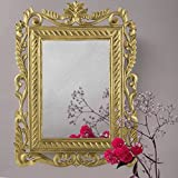 A.R Handicraft Decorative Mirror (Square Finish : Glossy) Golden Brown