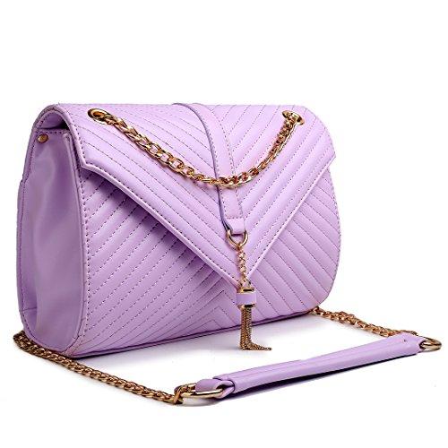 Miss Lulu, Borsa a spalla donna Light Purple