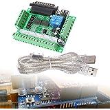 XCSOURCE® Adaptador Tablero Desglose 5 Ejes CNC para Controlador Motor Pasos Mach3 + Cable USB TE240
