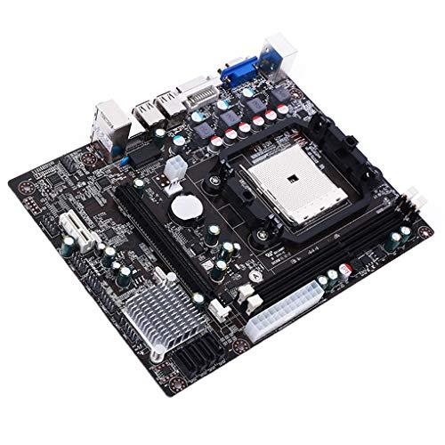 A55 Desktop (Luckiests A55 Sockel FM1 Desktop-Motherboard unterstützt DDR3 DIMM Fast Ethernet Mainboard Replacement)