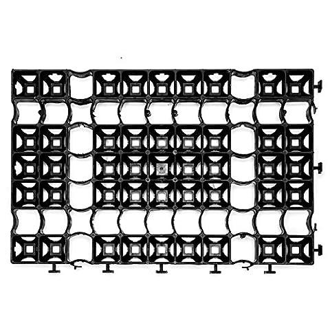 Lantelme 6078 Set 8 Stück Rasengitter Paddockplatten 60 x 40 x 4 cm Paddock Rasengitterplatten