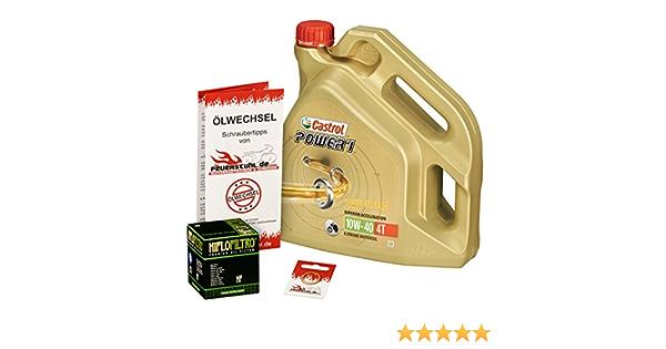 Castrol 10w 40 Öl Hiflo Ölfilter Für Kawasaki Z 1000 03 06 Zrt00a Ölwechselset Inkl Motoröl Filter Dichtring Auto