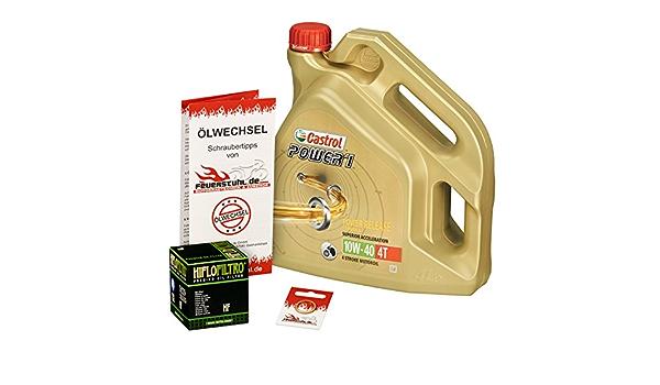 Castrol 10w 40 Öl Hiflo Ölfilter Für Honda Vfr 800 X Crossrunner 11 15 Rc60 Ölwechselset Inkl Motoröl Filter Dichtring Auto