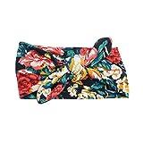 Republe Bébé Uni imprimé floral élastique Turban Turban noeud Bandeau nouveau-né du nourrisson large Twisted Bows cheveux