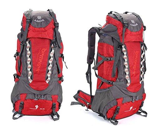 ROBAG Outdoor-Rucksack neue große Kapazität Rucksack im freien Männern und Frauen Klettern 80-Liter-Packung red
