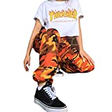 BURFLY Frauen Sport Camo Cargo Hosen 2018 Neue Jugend Outdoor Casual Camouflage Hosen Jeans (L, Yellow)