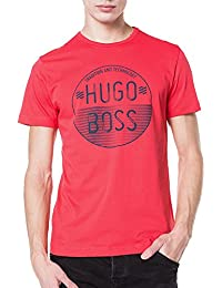 T-shirt en coton Regular Fit à logo imprimé : « Tee 1 » Rouge
