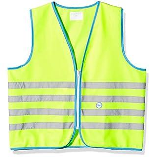 Wowow Fun-Warnweste für Kinder, Gelb fluoreszierend, Größe L (+10J.)