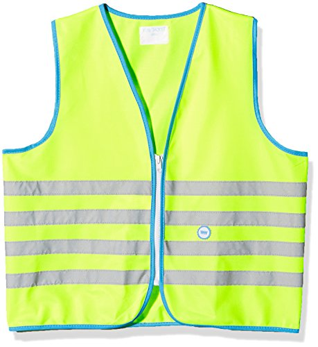 Wowow Fun-Warnweste für Kinder, Gelb fluoreszierend, Größe S (5-7 J.)