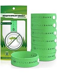 Naturaband - pulseras repelente de mosquitos - 7 unidades, Natural Insectos & Control de insectos deet-free