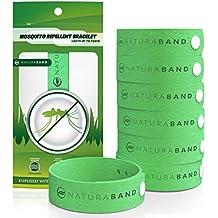 Naturaband -Braccialetti Antizanzare - Confezione da 7- Controllo Insetti Parassiti Completamente Naturale e SENZA DEET