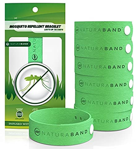 Naturaband Mosquito Repellent Bracelets - 7 Pack - All Natural Bug & Insect Control DEET-FREE,