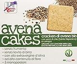 La Finestra Sul Cielo Avenacakes-Crackers di Avena con Semi di Chia e Canapa Bio -  3 Pacchi da 5 monoporzioni x 250 g