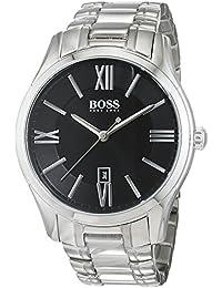 Hugo Boss Herren-Armbanduhr XL Ambassador Round Analog Quarz Edelstahl 1513025