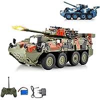 Leopard tanque teledirigido Lucha carro vehículo militar, neumáticos con disparos Simulación y giratorio barem Torre