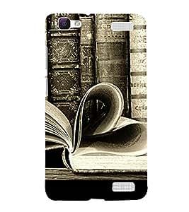 ifasho Designer Back Case Cover for Vivo V1 Max (Love Love Books Love Heart L Love Money)