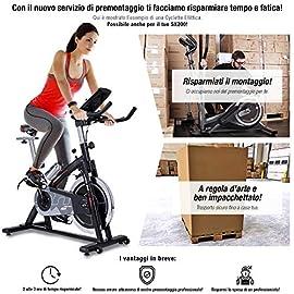 Sportstech Cyclette Professionale SX200 con Controllo Attraverso Un'App per Smartphone, volano da 22KG, Supporto Braccia, Compatibile con Cintura cardiofrequenzimetro - ergometro Fino a 125 kg