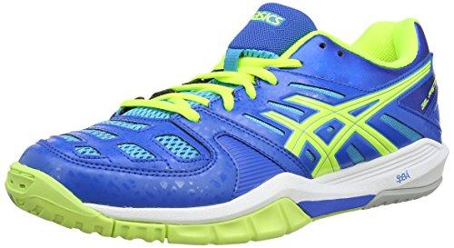 ASICS Gel-Fastball, Chaussures Multisport Outdoor Hommes Bleu (Blue/Flash Yellow/Aqua Blue 4204)