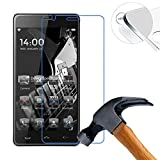 2 X Pack Hart Panzerglasfolie Schutzfolie für Homtom HT5 PRO Zoll Tempered Glass Folie Screen Protector Panzerfolie Glasfolie(Nur den flachen Teil abdecken)
