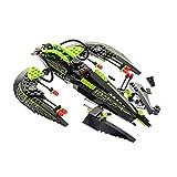 Bausteine gebraucht 1 x Lego System Set Modell Teile für 7646 Mars Mission ETX Alien Raumschiff Jäger Schwarz Grün Figur Commander Incomplete unvollständig