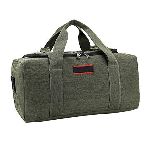 LOSORN ZPY Herren Vintage Handgepäck Reisetasche Sporttasche für Reise am Wochenend Urlaub Grün