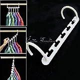 Magische Kleiderbügel Wonder Hanger Set von 1 bis 10 Platzsparende Schrank Garderobe Regal Etagere Küche Bad Storage Tools 3 Pieces