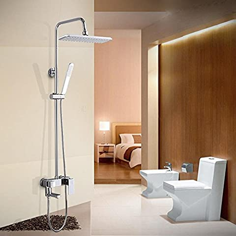 NHD-Modern copper shower faucet set, long, big-top adjustable shower rod, spin out under the tap - Fusioni Acrilico Rod