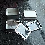 Generic L: 2Pcs Aufbewahrungsbox Container Rechteck analoge Eisen Dose Kleine Box klare Sicht Dosen Nickel