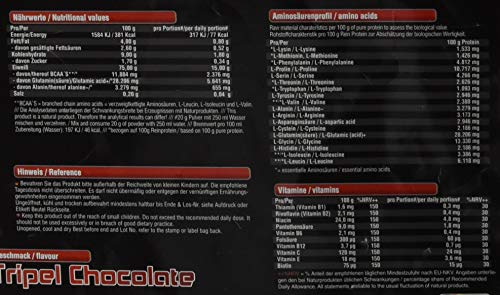 BWG Recharge Protein F98 Shake, Eiweißpulver für Muskelaufbau & Abnehmphase, Vegan, Lactosefrei, mit BCAA`S und Glutamin, Triple Chocolate (2500g)