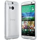 moodie Silikonhülle für HTC One M8 Hülle in Transparent - Case Schutzhülle Tasche für HTC One M8 (2014 Version)