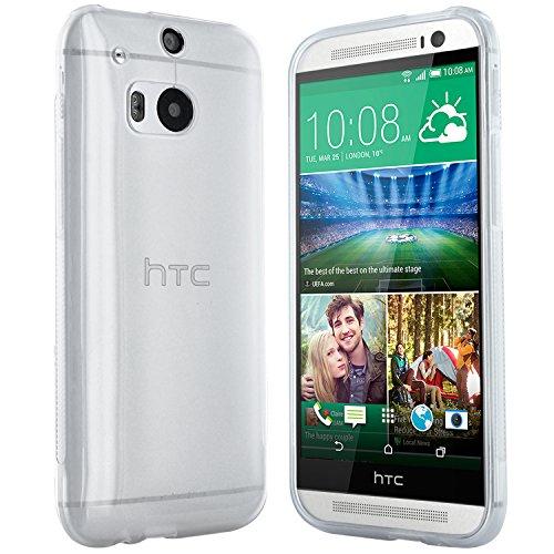 HTC One M8 Hülle in Transparent - Silikonhülle Case Schutzhülle Tasche für HTC One M8 (2014 Version)