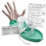 lunata® Masque Cpr Première Aide d'urgence Assistance respiratoire Masque Masque d'urgence Guide de masque respiratoire Masque respiratoire Masque de poche Pocket avec accessoires et Secouristes