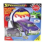 Playskool Speedstars Blazing Loop Stunt Set Purple Car