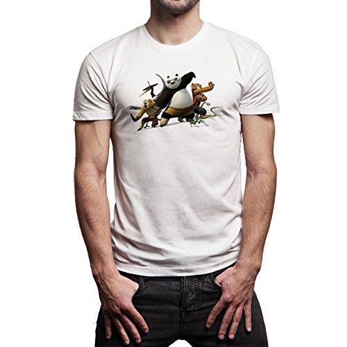 Kung-Fu-Panda-3-Friends-Team-Background.jpg Herren T-Shirt Weiß