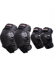 4pec Kit di protezioni per ginocchia e gomiti per Outdoor Sport estremi Racing Moto Motocross Guards Pads Set skateboard Roller ATV Off-road Racing Rider Protective Gear
