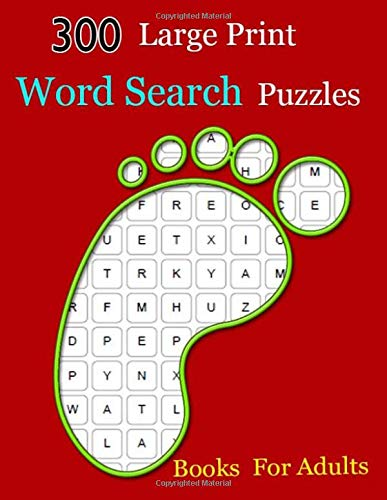 300 Large Print Word Search Puzzles Books  For Adults: Easy-to-see Full Page Seek and Circle Word Searches to Challenge Your Brain