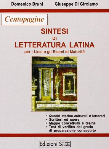 Sintesi di letteratura latina per la maturità