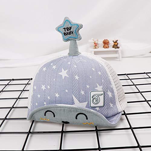 Kostüm Fünf Service Sterne - mlpnko Fünf-Sterne-Kinder net Hut Neue weiche Kappen Cartoon Kinder Hut Baby Sonnenhut Sonnencreme blau 48cm geeignet für 1-3 Jahre alt